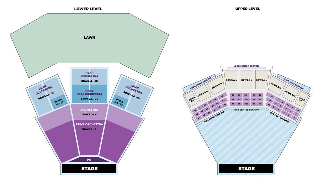 Filene Center Seating Chart;