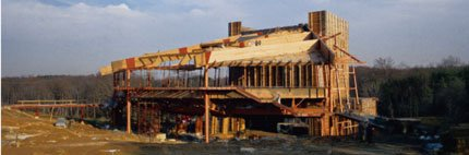 Original Construction of the Filene Center at Wolf Trap
